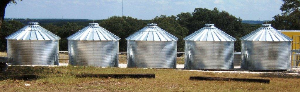 Steel 30 Degree Roof Water Tank - 9592 Gallon | TankAndBarrel com