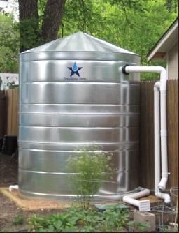 Galvanized Steel Water Storage Cistern Tank - 1000 Gallon