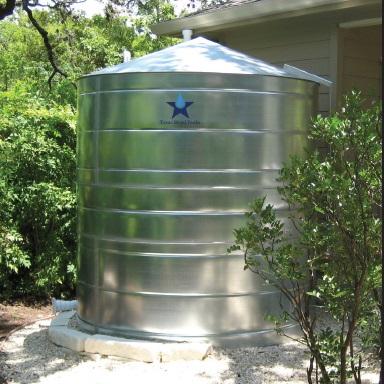 Galvanized Steel Water Storage Cistern Tank - 2500 Gallon