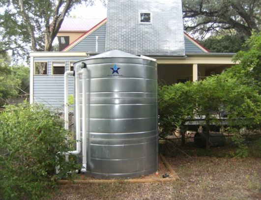Galvanized Steel Water Storage Cistern Tank - 2500 Gallon