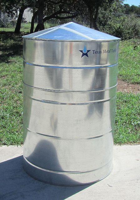 Galvanized Steel Water Storage Cistern Tank - 200 Gallon