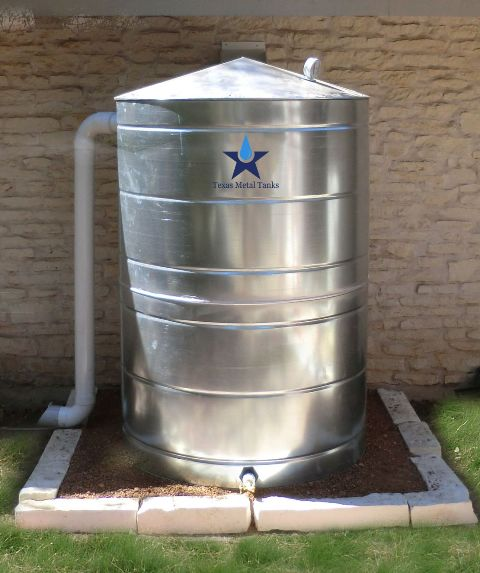 500 Gallon Water Tank >> Galvanized Steel Water Storage Cistern Tank 500 Gallon