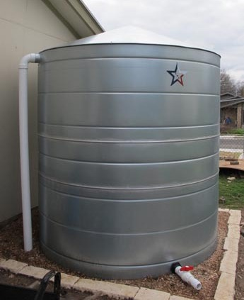 Galvanized Steel Water Storage Cistern Tank 830 Gallon