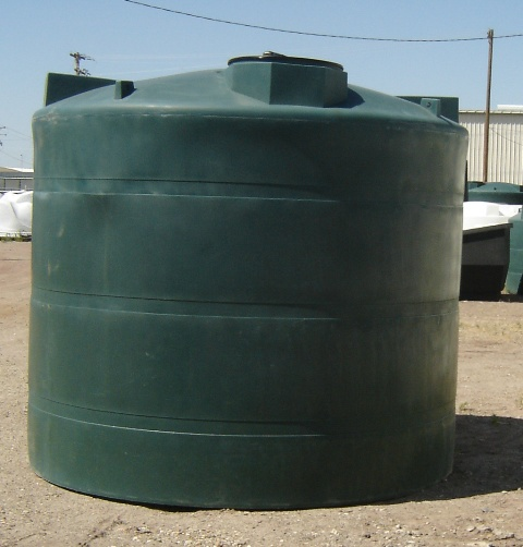 Custom roto molding gallon water storage tank
