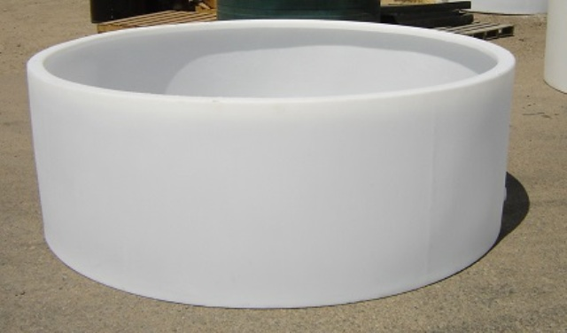 Custom roto molding gallon open top tank