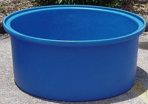 Duracast Round Open Top Aquaculture Tank - 90 Gallon