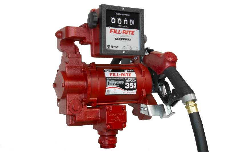 Fill rite fr vlb v high flow ac pump with hose