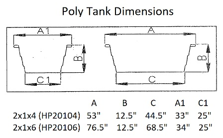 Round End Sheep Poly Stock Tank Dimensions
