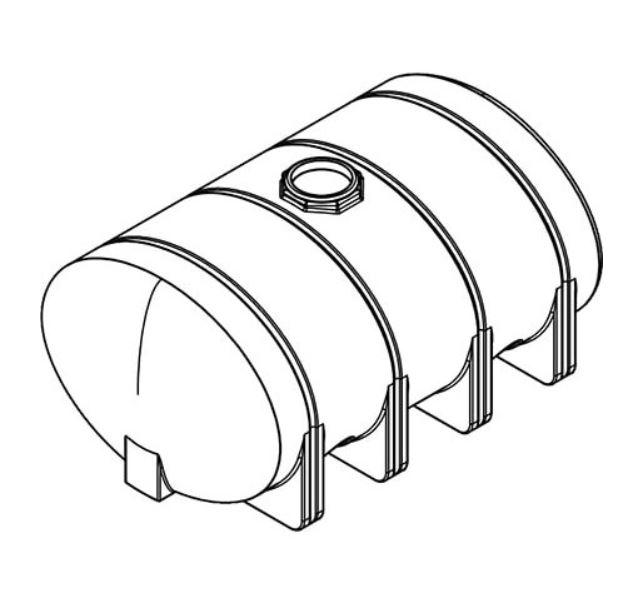 Norwesco Elliptical Leg Tank