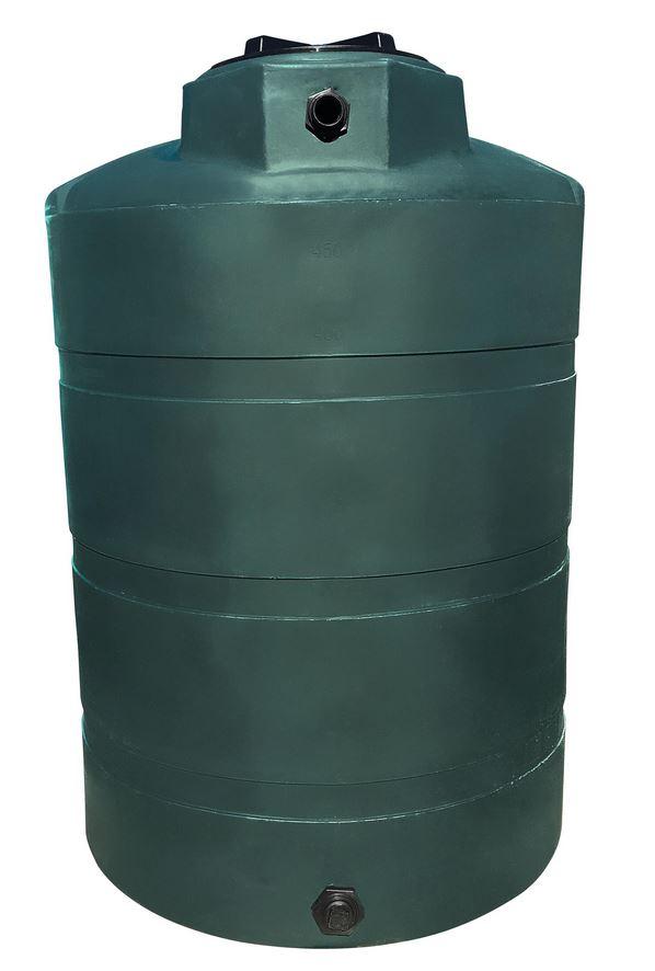 Kme Firestix 1000 Gallon: Norwesco Vertical Water Storage Tank (Dark Green)