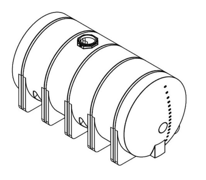 Norwesco Horizontal Leg Tank