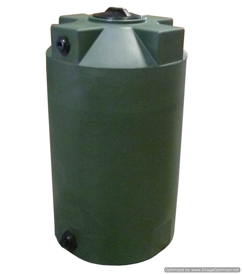 Poly Mart Vertical Water Storage Tank 125 Gallon