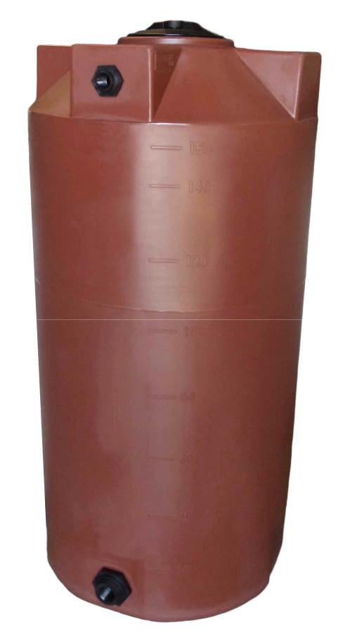 Poly-Mart Vertical Water Storage Tank - 150 Gallon