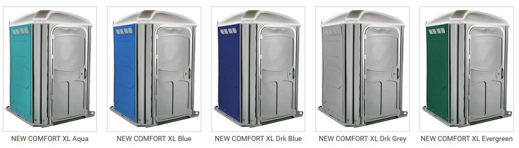 PolyJohn Portable Toilet Colors