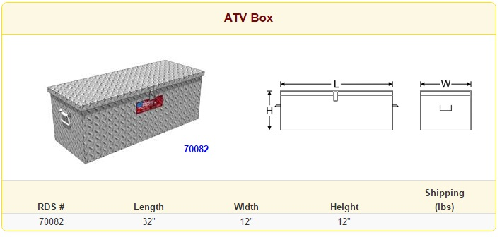 RDS ATV Box Sizes