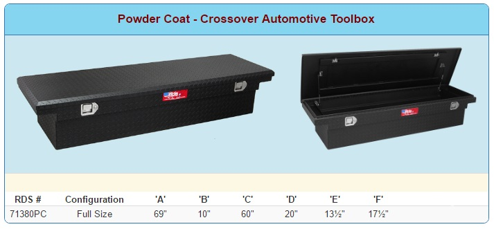 RDS Low Profile Toolbox (Black) Sizes