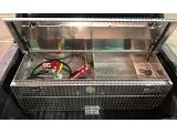ATTA Rectangular Transfer Tank And Toolbox Combo - 50 Gallon