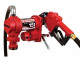 Fill-Rite FR1210HA1 12V Fuel Transfer Pump (Leaded Auto Nozzle, Hose, Suction Pipe) - 15 GPM