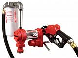 Fill-Rite FR4210HBFQ 12V Fuel Transfer Pump (Auto Nozzle, Hose, Filter, Suction Pipe) - 20 GPM