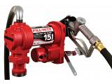 Fill-Rite FR610H 115V Fuel Transfer Pump (Manual Nozzle, Hose, Suction Pipe) - 15 GPM