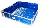 Husky Hazmat Aluminum Decontamination Pool - 4' x 4' x 1'