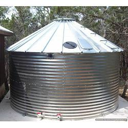 Steel 30 Degree Roof Water Tank - 64841 Gallon 1