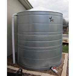 Galvanized Steel Water Storage Cistern Tank - 1630 Gallon 1