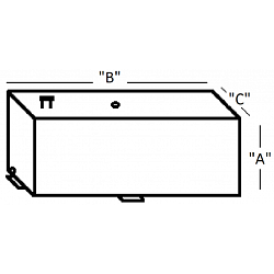 ATI Custom Rectangular Aluminum Fuel Tank 1