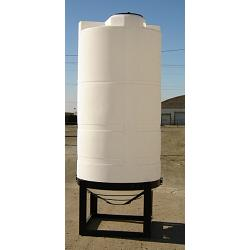 Custom Roto-Molding 700 Gallon Closed Head Cone Bottom Tank 1