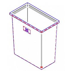 Duracast Rectangular Open Top Aquaculture Tank - 37 Gallon 1