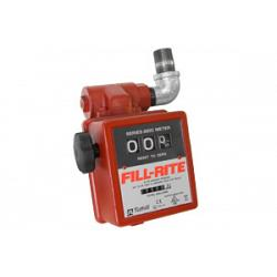 Fill-Rite 806CL 3-Wheel Mechanical, 1 in. Gravity Liter Meter with Strainer 1