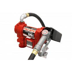 Fill-Rite FR1210G 12 Volt DC Pump with Hose and Manual Nozzle - 15 GPM 1