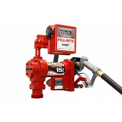 Fill-Rite FR1211G 12 Volt DC Pump with Hose, Manual Nozzle and Gallon Meter - 15 GPM 1