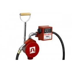 Fill-Rite FR156 Piston Hand Pump, Hose, Telescoping Steel Suction Pipe, Nozzle Spout, Meter 1