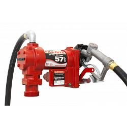 Fill-Rite FR2410G 24 Volt DC Pump with Hose and Manual Nozzle - 18.5 GPM 1