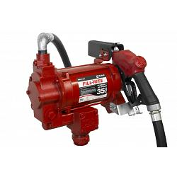 Fill-Rite FR310VB 115/230V High Flow AC Pump with Hose and Automatic Nozzle - 35 GPM 1
