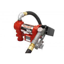 Fill-Rite FR4210G 12 Volt DC High Flow Pump with Hose and Manual Nozzle - 20 GPM 1