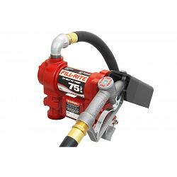 Fill-Rite FR4410G 24 Volt DC High Flow Pump with Hose and Manual Nozzle - 20 GPM 1