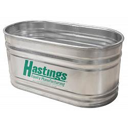 Hastings 22GA Steel Round End Stock Tank - 3\' x 2\' x 10\' - 400 Gallon 1