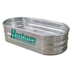 Hastings 22GA Steel Round End Sheep Stock Tank - 2\' x 1\' x 5\' - 62 Gallon 1