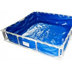 Husky Hazmat Aluminum Decontamination Pool - 3\' x 3\' x 1\'  1