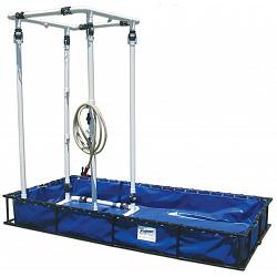 Husky Aluminum Frame Decon Shower System - 4\' x 8\' x 1\' 1