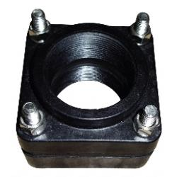 "Poly-Mart 3"" Bolted Bulkhead Fitting 1"
