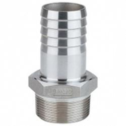 "Poly-Mart 3"" to 3\"" Stainless Steel Hose Barb Fitting 1"