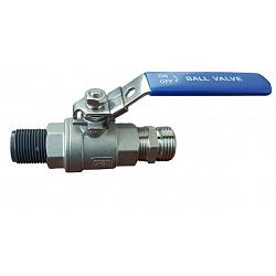 "Poly-Mart 3/4"" Stainless Steel Lockable Ball Valve Assembly 1"