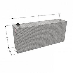 RDS 90 Gallon Rectangle Vertical Refueling Tank 2