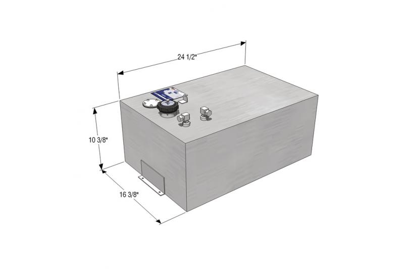 RDS 18 Gallon Rectangle General Purpose Fuel Tank