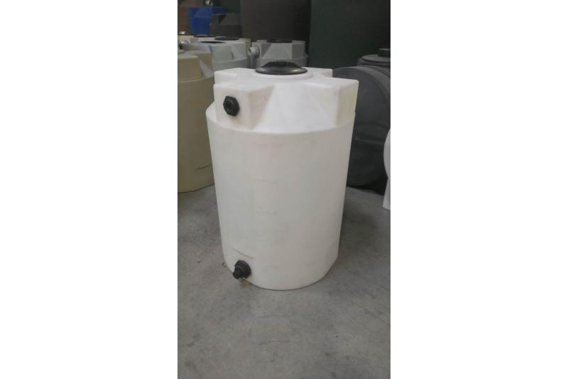 Poly-Mart Heavy Weight Vertical Chemical Storage Tank - 100 Gallon