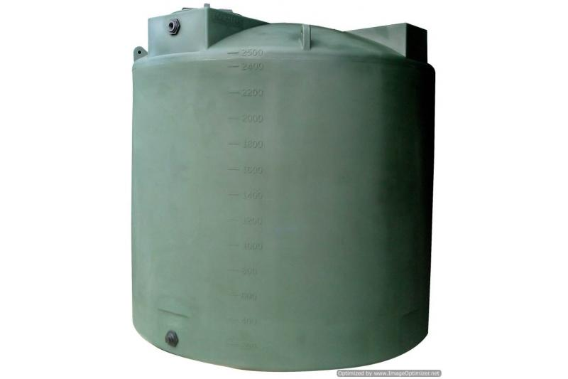 Poly-Mart Vertical Water Storage Tank - 2500 Gallon