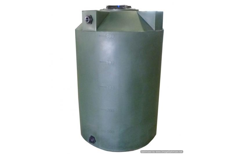 Poly-Mart Vertical Water Storage Tank - 500 Gallon